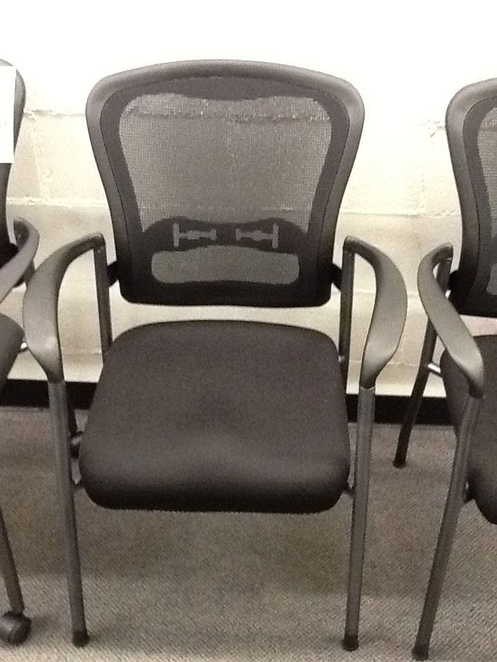 Office Furniture Guest Chairs gcos5 guest chair with mesh back - new-used office furniture